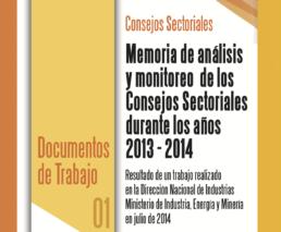 LIbro Memoria de análisis y monitoreo de Consejos Sectoriales